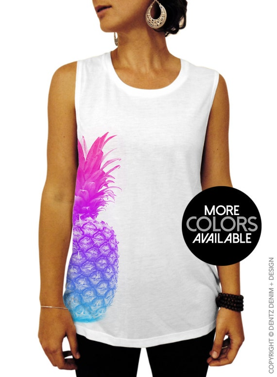8220b6a5c6664 Pineapple Shirt Pineapple Muscle Tee Pineapple T shirt