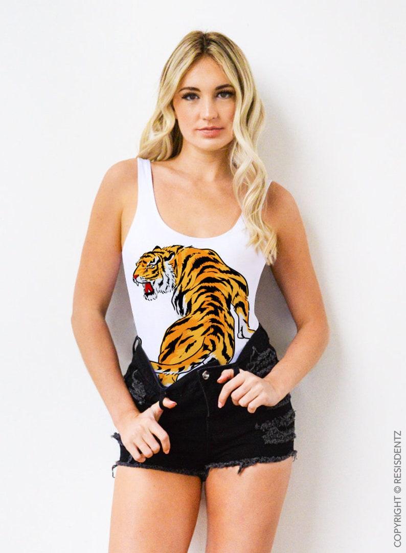 dc5b03e2089c1 Tiger Swimsuit Bodysuit or Bathing Suit   Etsy