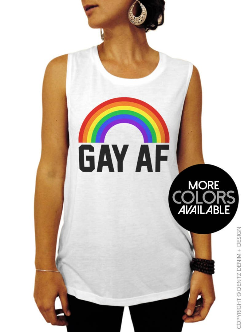 fac8ff2a0f3131 Gay AF Gay Pride Shirt Muscle Tee Tank Top Funny