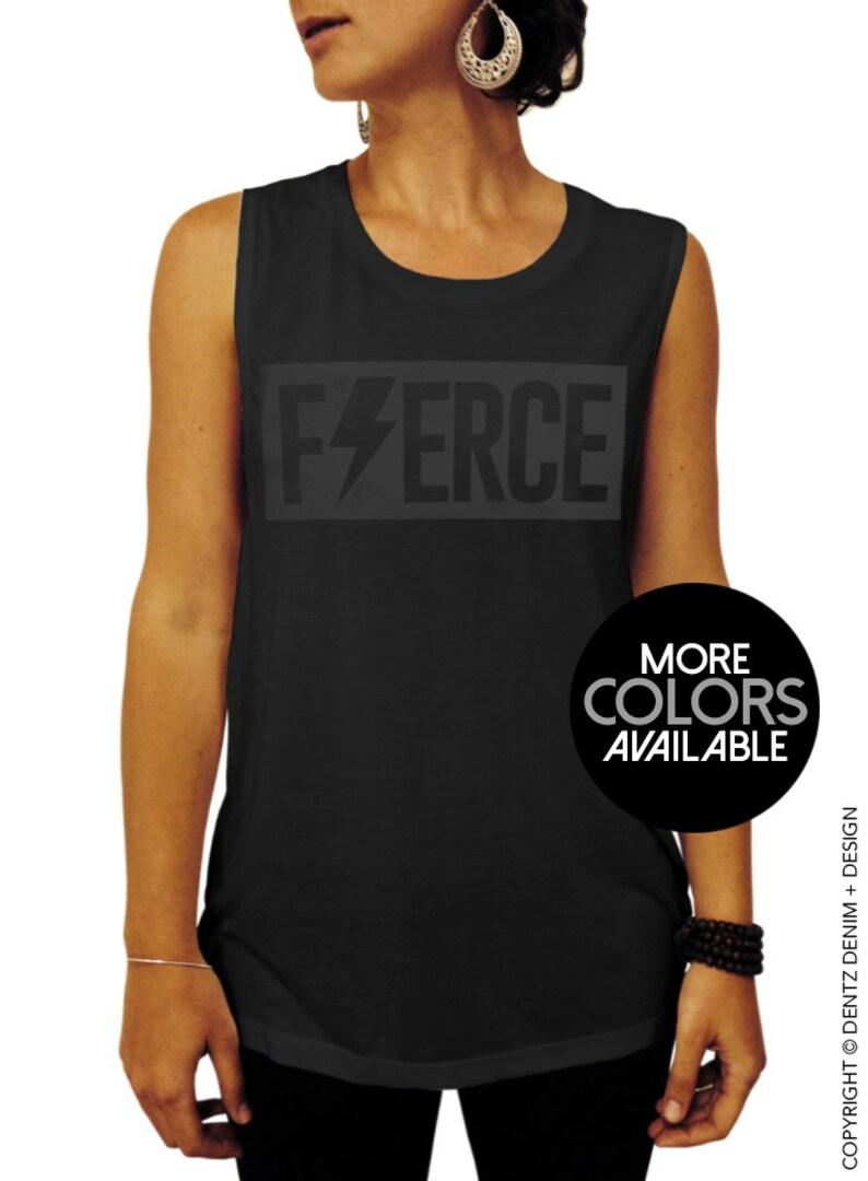 20535bcaa1d82 Fierce Fierce Shirt Womens clothing Gym top Muscle tee