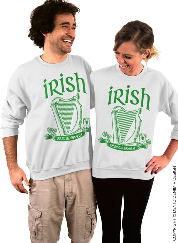 Dentz Design Irish Erin Go Bragh Slouchy Sweatshirt