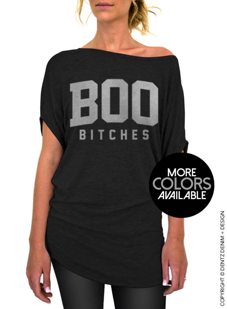 c4c4845bb Boo Bitches Halloween Slouchy Tee Small Plus Sizes | Etsy