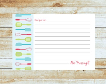 Personalized Recipe Cards / Baking / Gifts / Kitchen Utensils