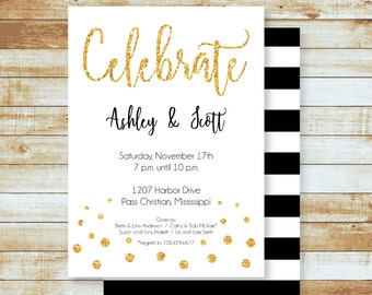 Party Invitation / Engagement / Celebrate / Free Shipping
