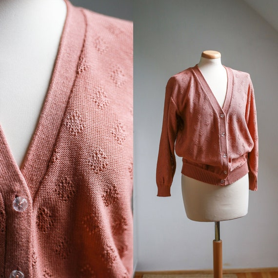 Dusty Pink Cardigan, Blushing Pink Delicate Jumper