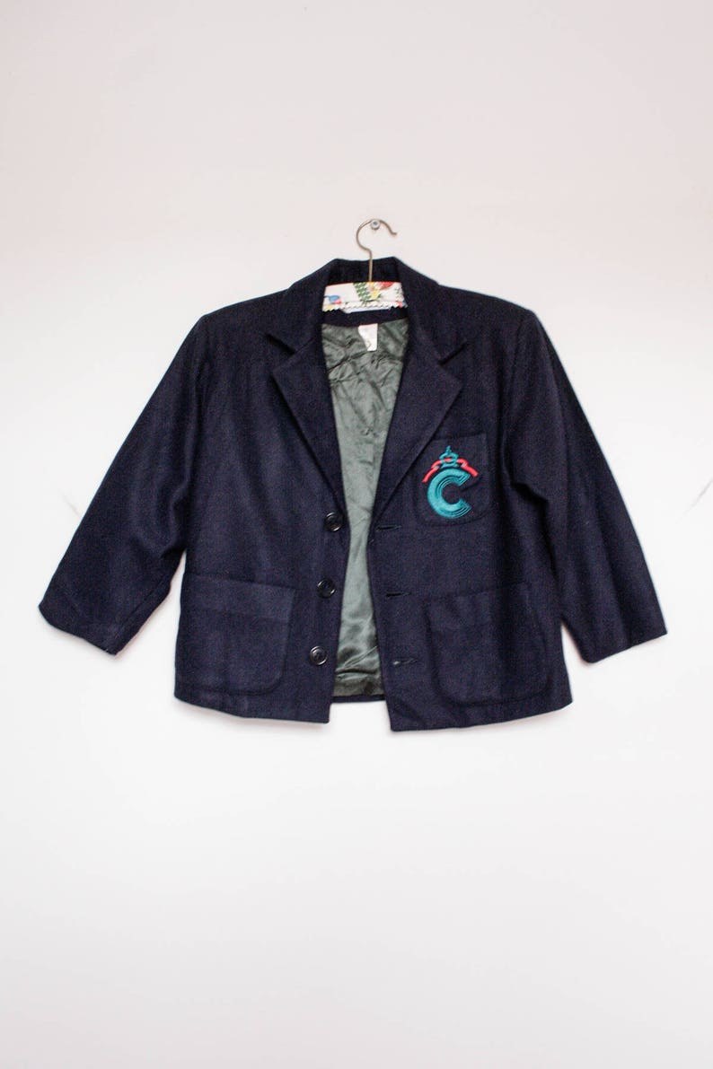 39c15d2e3b Cacharel Kids Wool Coat Unisex School Uniform Vintage Blazer | Etsy