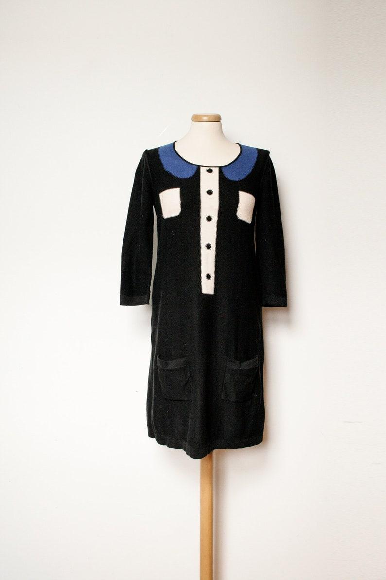 4d9b1f5238 Sonia Rykiel Cute Black Sweater Knit Dress Trompe l Oeil | Etsy