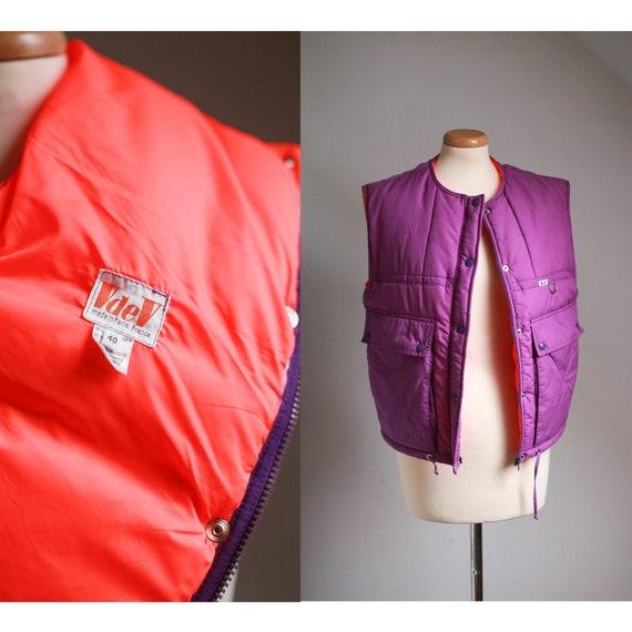 80s VdeV Paris Vest, French Sportswear, Vintage Wi