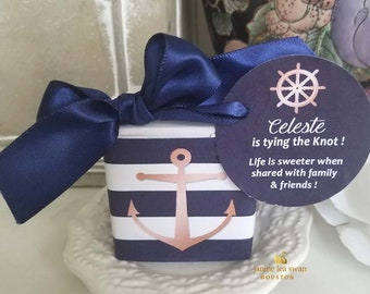39f4c913a22e Nautical beach 1.00 favors rose gold or coral favor boxes includes box wrap  tag with imprints jute or satin ties simple assembly