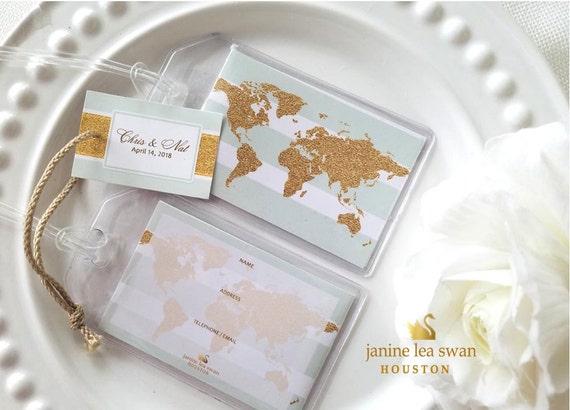 Glitter My World Luggage Tag Wedding Favors 50 At 175 Ea Etsy