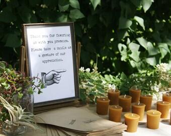 Beeswax Votives- 25 Beeswax Candles, beeswax candle votive favors, party favors, bulk pure beeswax votive candles, natural wedding decor