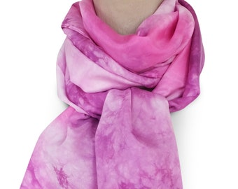 Pink silk scarf, purple silk scarf, pink scarf, pink scarves, purple scarf, purple scarves, womens scarves, mothers day gift, spring scarf