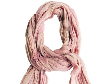 Blush scarf, trending now, blush and ivory, blush chiffon, blush wedding scarf, blush chiffon wrap, blush bridesmaid gift, best friend gift