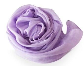 Lavender scarf, lavender silk scarf, purple silk scarf, large silk scarf, silk scarves, silk shoulder wrap, lavender shawl, trending now