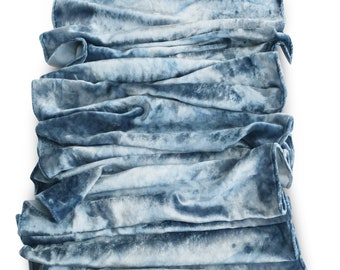 Blue velvet scarf, velvet scarves, velvet scarf, trending now, blue velvet, blue scarf, blue scarves, womens scarves, silk velvet, chambray