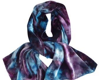 Velvet scarf, blue velvet scarf, purple velvet, trending now, crushed velvet, womens scarves, velvet scarves, blue boho scarf, blue scarves