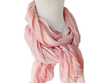 Blush scarf, bridesmaid gift, blush chiffon, pink silk scarf, pink chiffon scarf, blush wedding scarf, pink wedding scarf, best friend gift