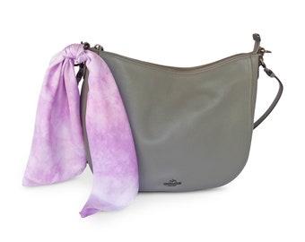 Lavender scarf, lavender silk scarf, small silk scarf, square scarf, purse scarf, purple silk scarf, square silk scarf,  mothers day gift