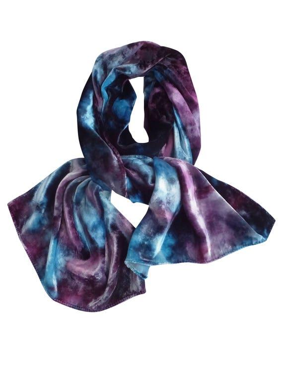 più colori scarpe esclusive nuovo stile di Sciarpa di velluto, sciarpa di velluto blu, velluto viola, trend ora,  velluto, sciarpe, sciarpe di velluto, boho blu sciarpa, sciarpe blu