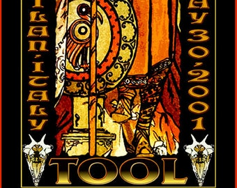 Tool in Milan Italy Concert Poster