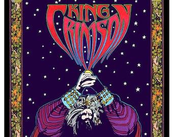 King Crimson psychedelic concert poster