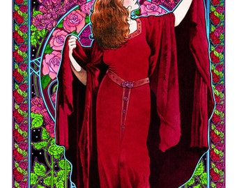 a37a30a05 Stevie Nicks White-winged Dove art nouveau poster