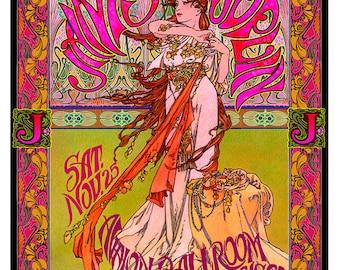 Janis Joplin art nouveau San Francisco concert poster