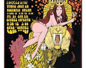 The Doors 1960s concert poster