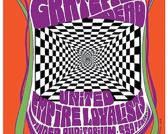 Grateful Dead 1960s psychedelic art nouveau concert poster