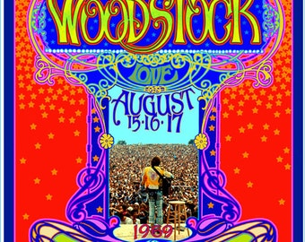 Psychedelic Woodstock 45th anniversary poster
