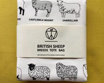 British Sheep Breed Tote Bag