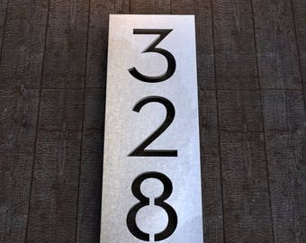 Stainless Steel House Numbers - Longview