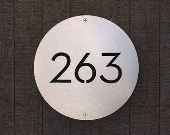 Lafayette Street STAINLESS STEEL house numbers