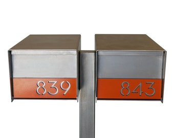 Goodwood Double Stainless Steel Mailbox and Post