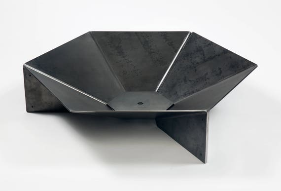 Modern Steel Origami Fire Pit 36 Free Shipping Etsy