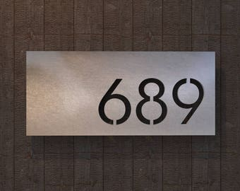 Stainless Steel House Number Plate - Valcour