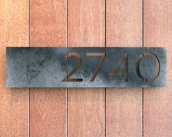 Highland HOT ROLLED STEEL House Numbers