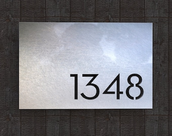 Stainless Steel House Number Plate - Melrose