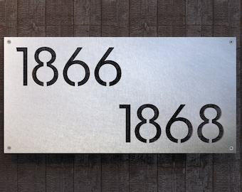 Large Stainless Steel House Number Plate - Westmoreland