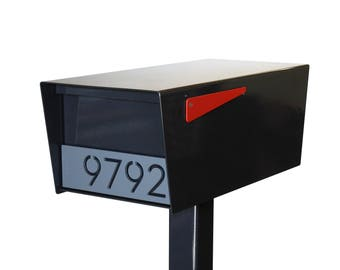 GOODWOOD Powder Coated RAL 7021 Black/Grey - Stainless Steel Mailbox