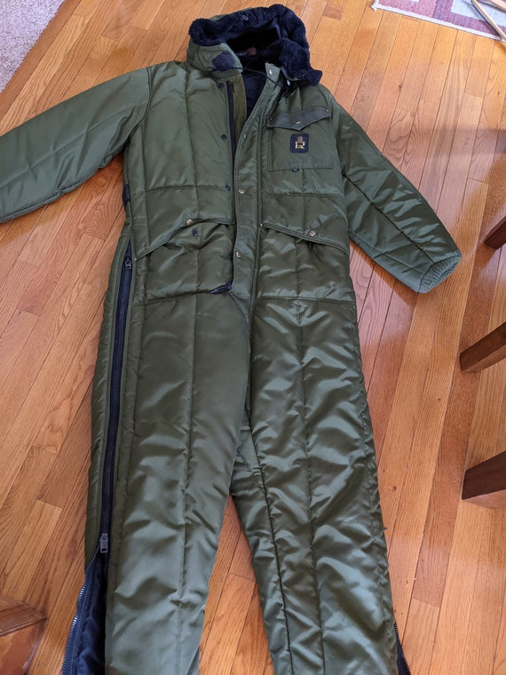 Vintage RefrigiWear Green Men's Medium Snowmobile
