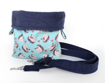 Hedgehog Bonding Bag- Bonding Pouch - Carrying Bag - Cozy Cup - Snuggle Pouch - Hedgie - Small Animal