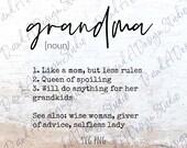 Grandma SVG PNG Digital File Digital Download Cut File Sublimation Design Mother 39 s Day Grandma Definition Cricut Silhouette