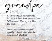 Grandpa SVG PNG Digital File Digital Download Cut File Sublimation Design Father 39 s Day Grandpa Definition Cricut Silhouette