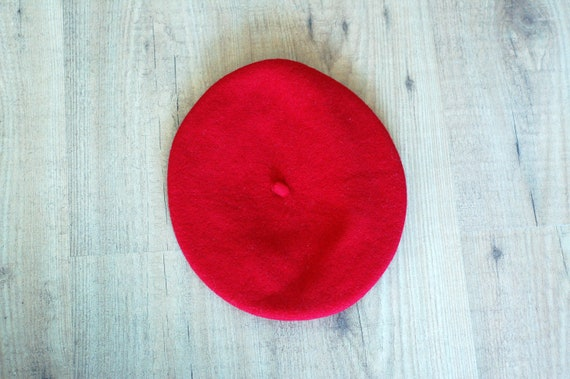 Red beret with cap