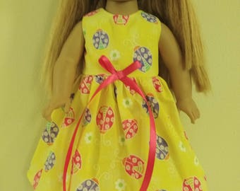 "18"" lady bug doll dress"