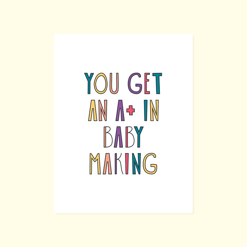 Funny Baby Congratulations Card A+ Baby Making Baby Shower Card Newborn Baby Congratulations Baby. New Baby Humor Funny New Baby Card
