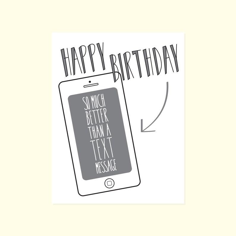 Funny Birthday Card Happy Texting Humor