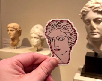 Cute Sticker. Vinyl Sticker. Trendy Sticker. Laptop Sticker. Goddess Sticker. Water bottle Sticker. Goddess Bust Sticker. Greek Goddess.