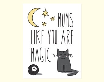 Sweet Mother's Day Card. Cute Mothers Day. Cute Card For Mom. Magic Mom Card. Sweet Card. Amazing Mom. Card For Mom. Strong Mom. Magical Mom